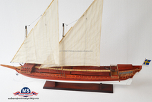 Galar L120cm , Great Assembly handcraft Wooden sailing Boat Model