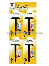 Disposable / sharp /twin blade Shaving Razor/high quality / Zorrick razor
