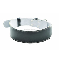 "Leather Power Weight Lifting Belt- 4"" Black by EURO SKT Co .."