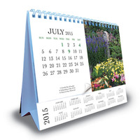 2015 Printing Year Table Planner English Arabic Desk Calendar