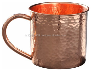 Hammered high quality manufacturer moscow mule copper mug
