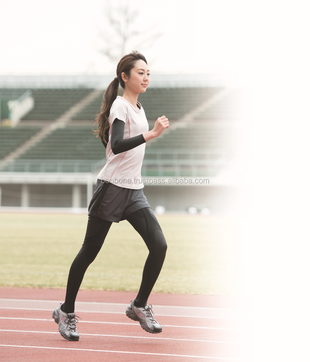 Running Compression tights for women for High Performance & Injury prevention, Made in Japan