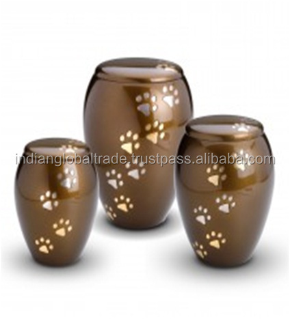 Paw Pet Monarch Brass Adult Urn for Cremation