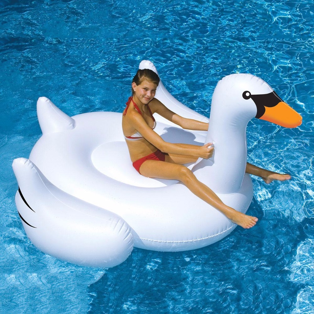 2016 Giant white inflatable swan pool float for sale