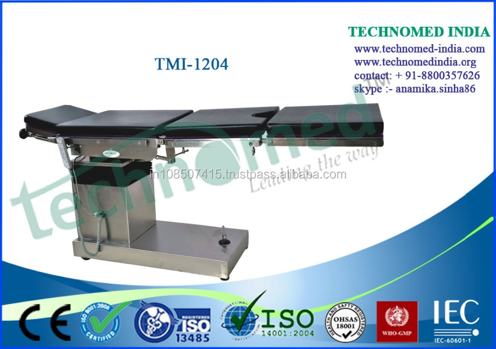 Medical equipments Electric Operating Table for use of C Arm Image Intensifier