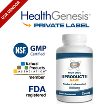 Private Label Acetyl L-Carnitine 500 mg 50 Veg Capsules Non-GMO from NSF GMP USA Vendor