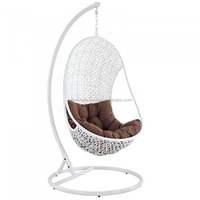Vietnam factory Modern design outdoor round rattan outdoor bed outdoor swing with high quality aluminum frame