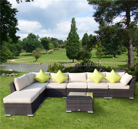 Deluxe Outdoor Patio PE Rattan Wicker Sofa Chaise Lounge Furniture Set NFRT01