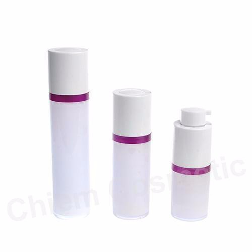 Twisted Cylinder Shape Airless Dispenser #PAST 50,30,15 ml