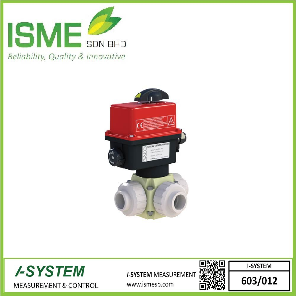 VE3V S4-PVDF, Electrically actuated 3-way ball valves
