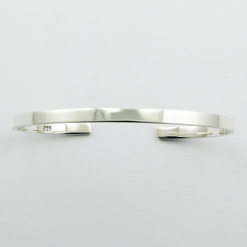 Elegant Simplicity Hallmarked 925 Sterling Silver Bangle Bracelet