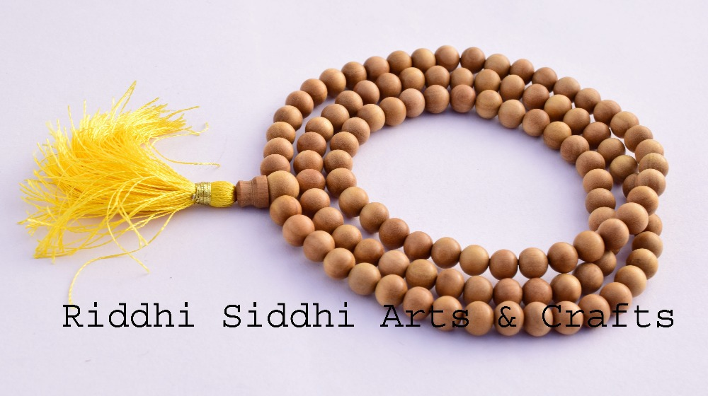 hinduism-sandalwood prayer mala beads/wholesale rosary beads/sandalwood beads