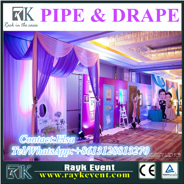 Cheap price wedding backdrop/pipe and drape with adjustable frame for wedding/event decoration