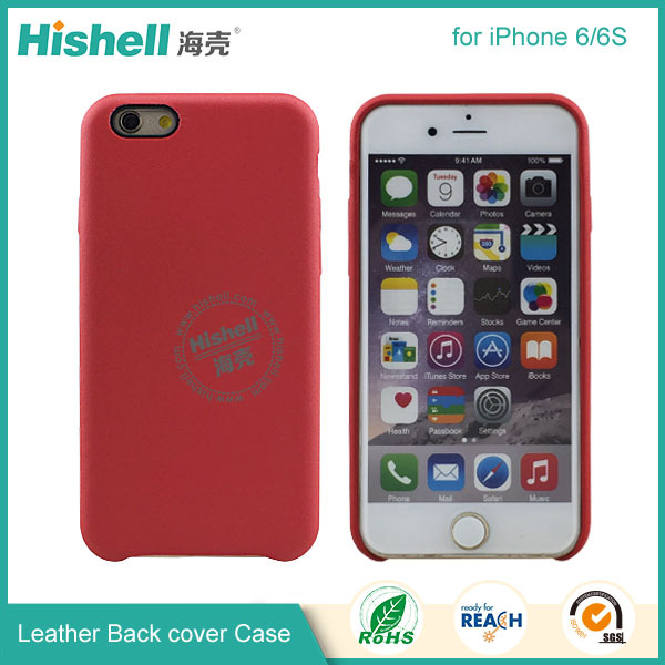 For iPhone 6 Case With Genuine Leather or PU Leather Phone Case
