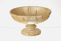 Burma Teak Marble Fruit Dish in Best Price