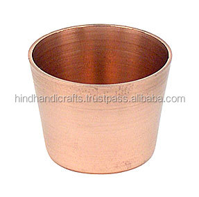 Copper Tea Light Soy Candle Cup, Copper Tumbler For candle Wax, Copper T-Light Candle Cup 004