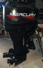 Best Price Offer for 2016 Used MerCuRy 75Hp 4 Stroke Out Board Motor