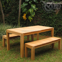 Teak Outdoor Patio Sets Dining Table And Bench For Garden Furniture Outdoor
