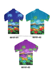 POLYESTER PRINTED HAWAIIAN SHIRTS