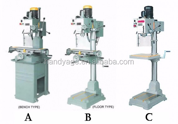 [Handy-Age]-Geared Head Drilling/Milling Machine (MW0800-065(A-B-C))