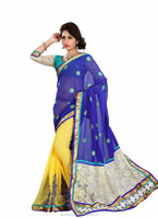 INDIAN BRIDAL WEAR FULLY embroidered saree