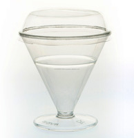plastic ice cream sundae cups,No.555, cap,width 8.6cm.Height 9 cm. Wide bottom of the cup 6 cm.Packing 6 oz.
