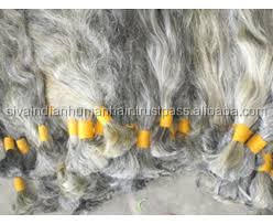 Indian Wholesale Gray Human hair Bulk buying Straight grey Hair Extension with Virgin Human hair