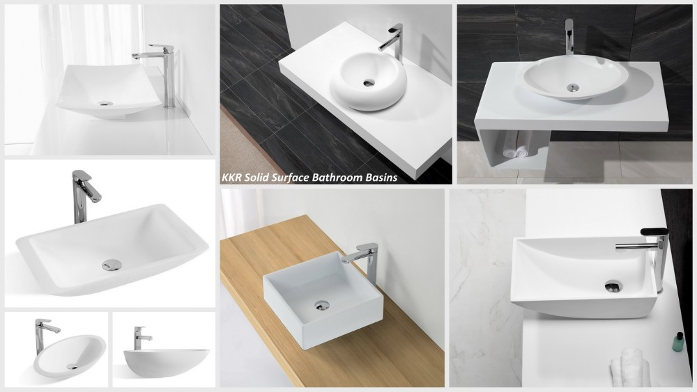 Solid surface hand wash basin price / bathroom sanitary ware