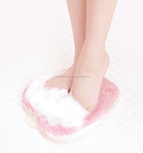 Smoothing scrubbing body care foot massage product for refreshing