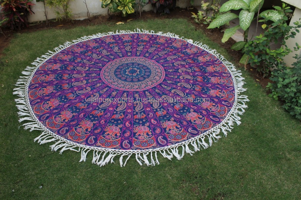 Wholesale Indian Printed Tapestries Mandala Round Tapestry