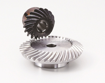 Hardened spiral bevel gear Module 1.5 Carbon steel Ratio 2 Made in Japan KG STOCK GEARS
