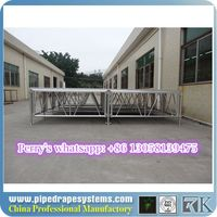 outdoor and strong used portable stage with non-slip finish material on sale
