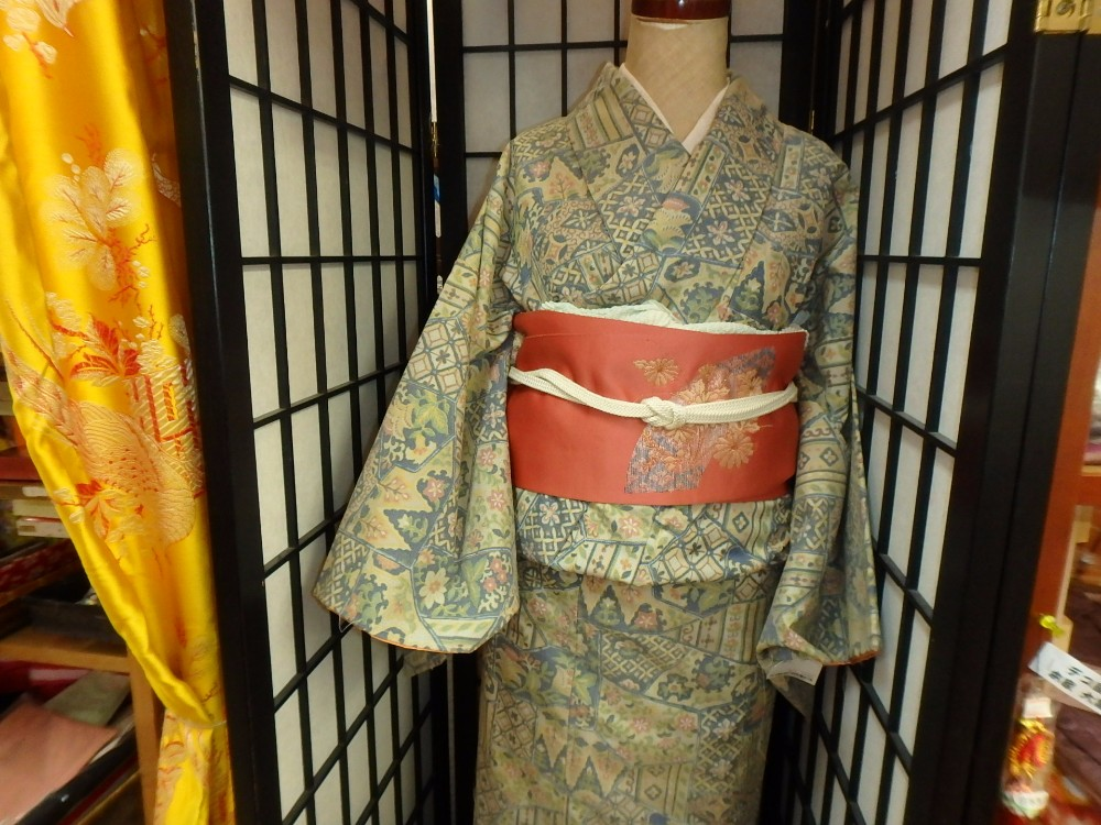 Hot & Traditional used kimono dress wholesale with Obi & Other Items Mixed Distributed in Japan TC-008-55