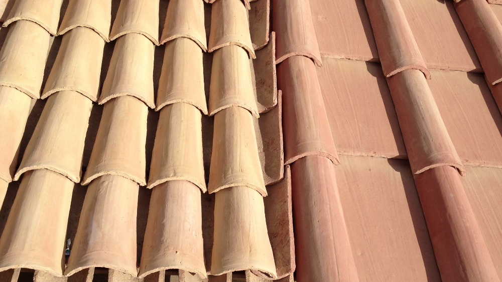 Spanish Terracotta Roof Tiles 100% Handmade Bioconstruction