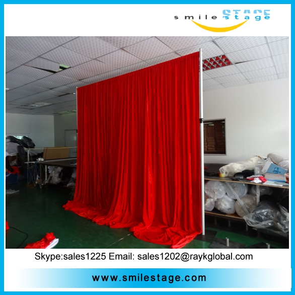 aluminum portable photo booth backdrop pipe stand