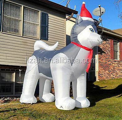 christmas airblown husky christmas yard decorations inflatable christmas airblown inflatable dogs