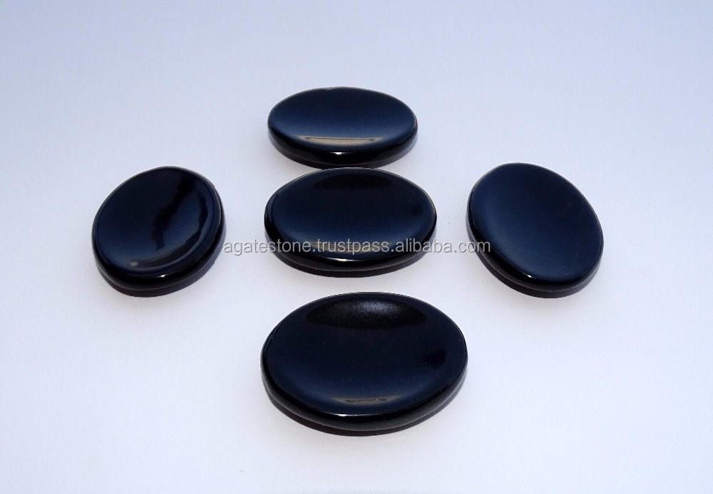 New Black Agate Stone Thumbs Wholesale Supplier : Natural Healing tool