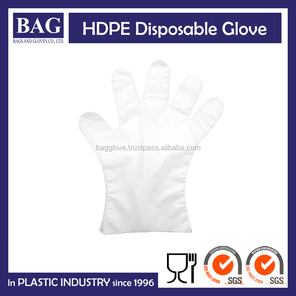 High quality transparent disposable plastic gloves