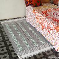 Customized Wear Slip Resistant Natural Bamboo Carpet NCCRG-3B 100% Wool Cotton Backing Rug for house/ villa/ hotel, carpet tiles