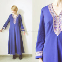 maxi kaftan dress. ethnic Oriental kaftan. sequinned bell sleeve kaftan.