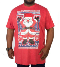 New Extra Large Fashion Mens Boys Casual Snowflake Santa Christmas T-Shirt 100% Cotton Embroider Oem Odm Customize Print
