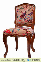 Traditional Indian Home Decorative Living Room Tree Print Chair Vintage Ethnic Indian Handmade Embroidered Pattern Dining Chairs