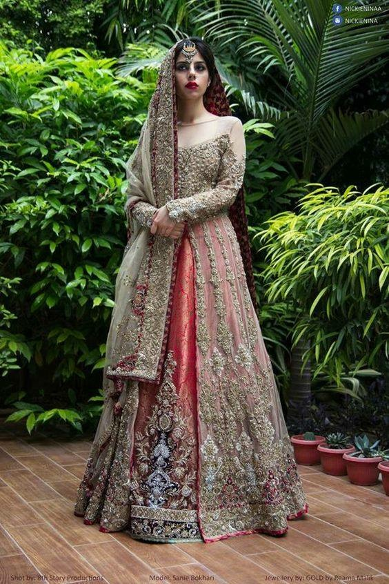 Indian Bridal dress / 2016 Indian Bridal dress / new style Indian Bridal dress