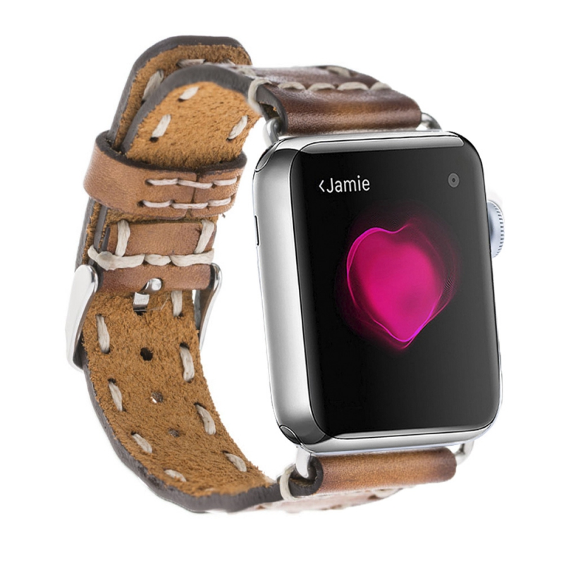 new premium design genuine leather strap for apple watch