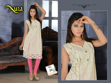 Cut Pattern Designer Embroidery Pure cotton Kurtis/western kurti designs/winter kurti design