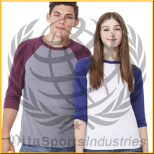 baseball t shirt with factory cheap price high quality OEM export service