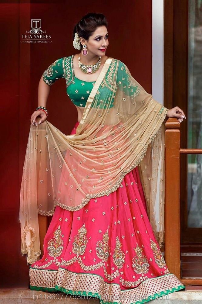 Sawariya green and pink lehnga choli /gujrati garba dance kids chaniya choli / lehenga choli