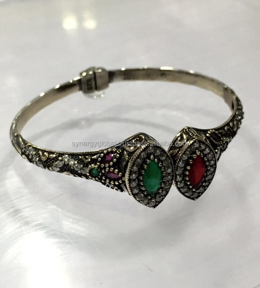 Vintage Hallmarked 925 Sterling Silver Bangle /Cuff /Indian kadas Bracelet For Women for all ocassion