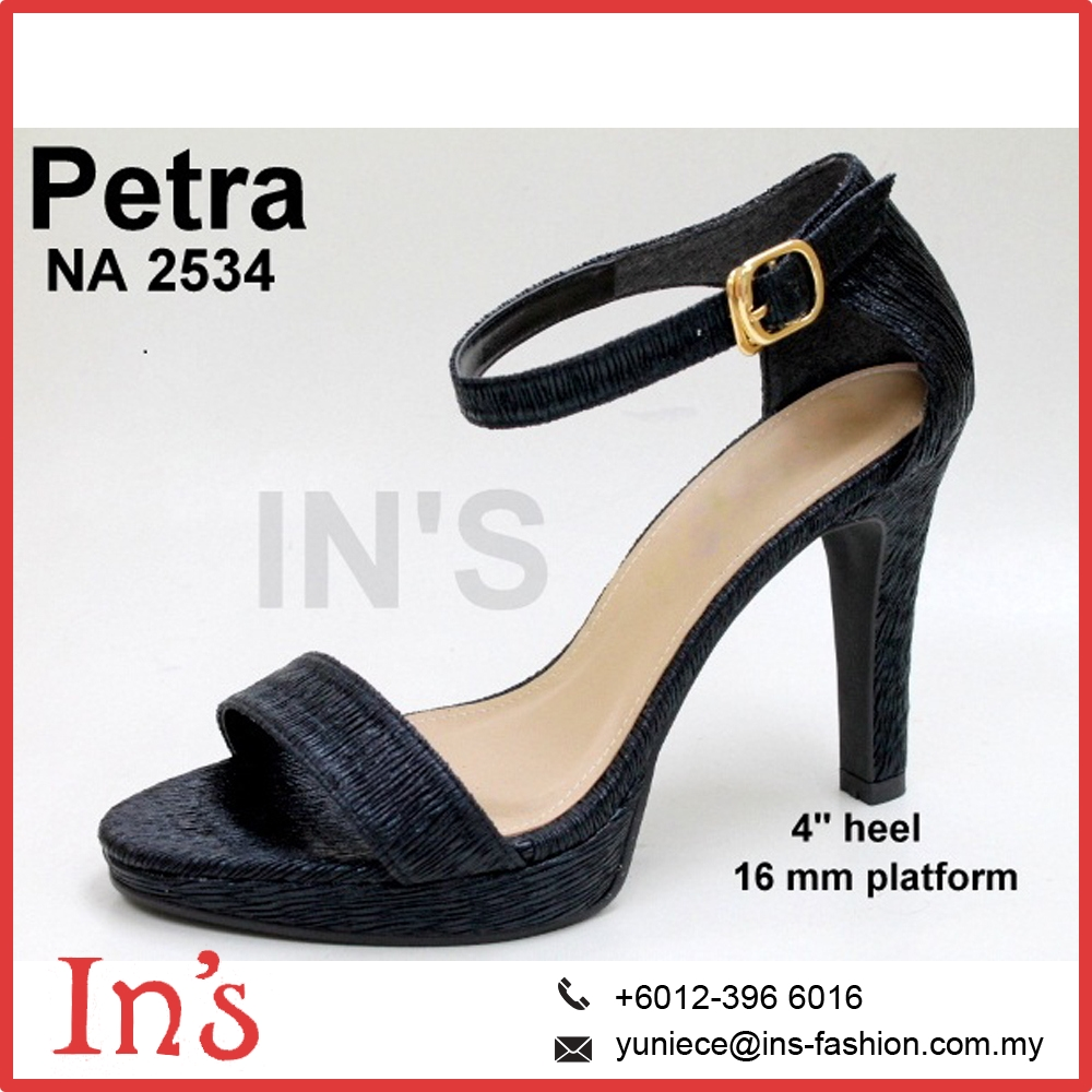Malaysia Black Wedding Dress Heels Ladies Shoes