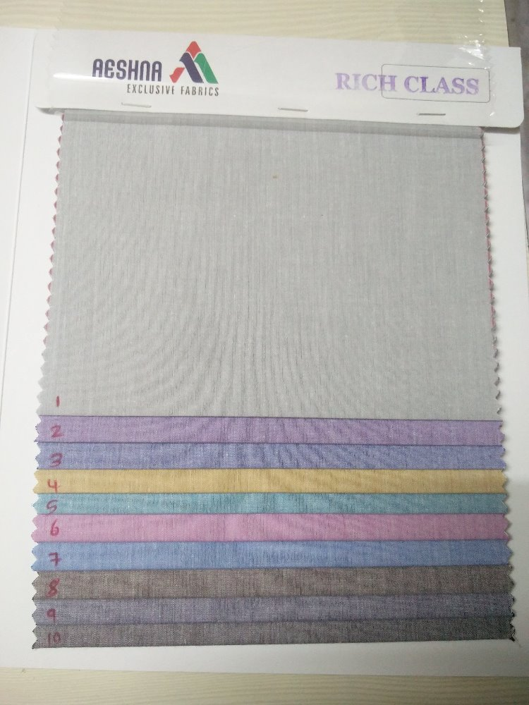Latest and Popular cotton yarn dyed fabric for man's shirting